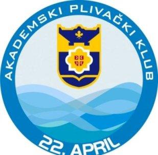 Знак пливачког клуба 22. Април из Бањалуке и линк на њихову страницу